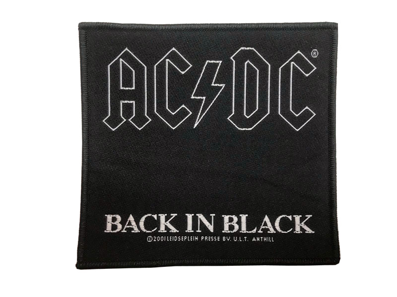 Parche AC/DC Black in Black